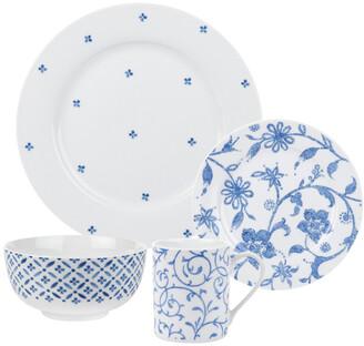 Spode Home Blue Indigo 16Pc Dinnerware Set