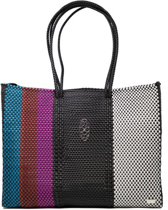 Lolas Bag Striped Travel Tote With Clutch