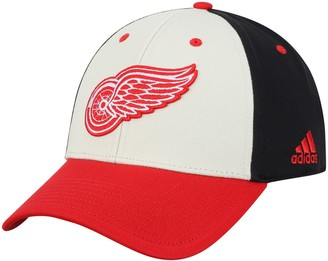 adidas Men's White/Red Detroit Red Wings Three-Tone Logo Snapback Hat