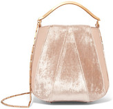 Eddie Borgo Pepper Velvet And Leather Bucket Bag - Baby pink