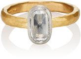 Malcolm Betts Women's Oval White Diamond Ring