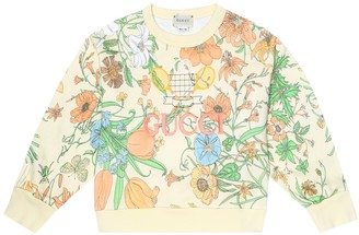 Gucci Kids Floral cotton sweater