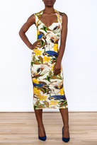 Isabel De pedro Sleeveless Bodycon Midi Dress