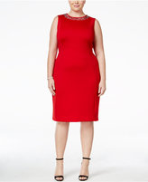 Calvin Klein Plus Size Embellished Sheath Dress