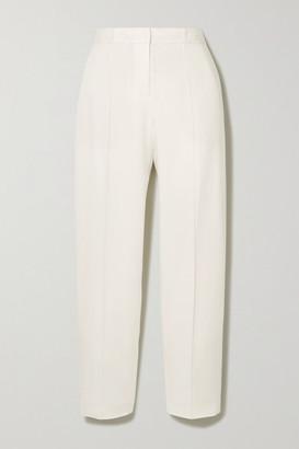 By Malene Birger Santsi Cropped Slim-fit Pants - White