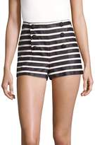 RED Valentino Women's Buttoned Cotton Shorts