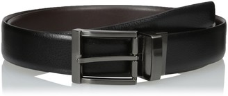 Van Heusen Men's Big-tall Men's Big and Tall Non Stitch Leather Reversible Belt