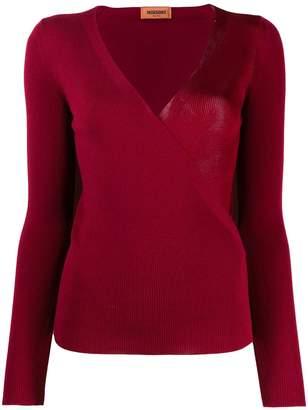 Missoni wrap style v-neck jumper