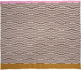 Orla Kiely Stripe Flower Jacquard Throw - Nutmeg