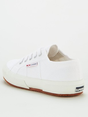 Superga Girls 2750 Jcot Classic Lace Up Plimsoll Pumps - White