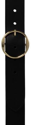 Loop Black Gold Leather Hampton Belt