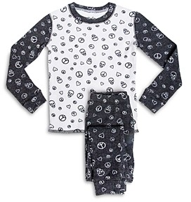 PJ Salvage Boys' Peace Print Pajama Set - Little Kid, Big Kid