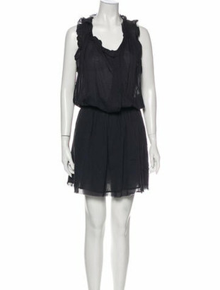 Etoile Isabel Marant Scoop Neck Knee-Length Dress Grey