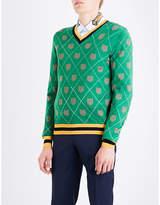 Gucci Tiger-intarsia Wool Jumper