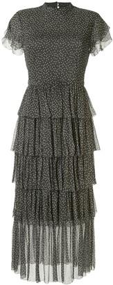 Isabella Collection polka dot print dress