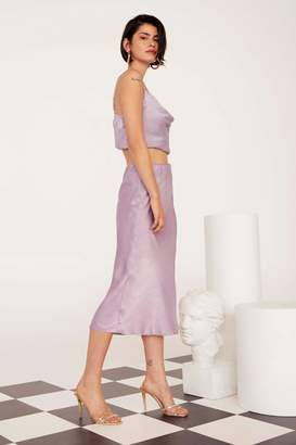 Nasty Gal Get Your Sleek On Satin Bias Cut Skirt