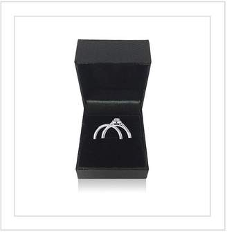 Love Diamond 9ct White Gold 1/4 Carat Diamond Cluster Bridal Set