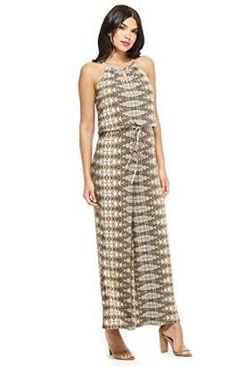 Muse Women's Wafer Dot Lace Belle Sleeve Dress
