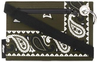 MSGM Paisley-Print Flat Messenger Bag