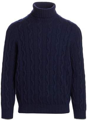 Brunello Cucinelli Cable-Knit Cashmere Turtleneck Sweater
