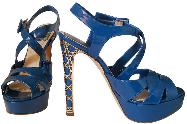 Christian Dior Blue Patent leather Heels