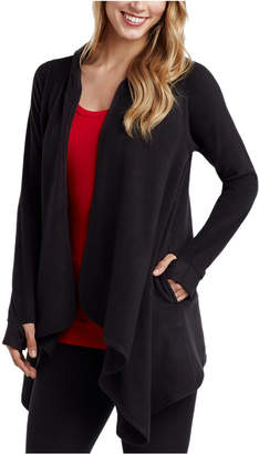 Cuddl Duds Women Fleece with Stretch Long-Sleeve Hooded Wrap