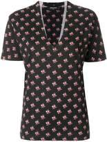 DSQUARED2 v-neck patterned T-shirt