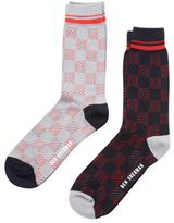 Ben Sherman Plaid Intarsia Socks (2 PK)