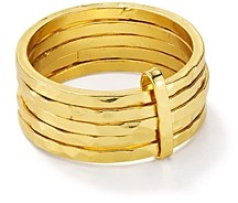 Argentovivo Stacked-Effect Ring in 18K Gold-Plated Sterling Silver