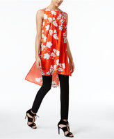 Vince Camuto Floral-Print High-Low Tunic, A Macy's Exclusive