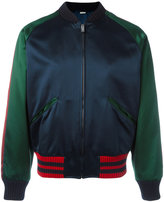 Gucci panther bomber jacket - men - Silk/Viscose - 52