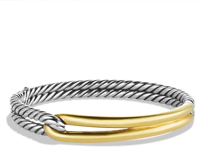 David Yurman 'Labyrinth' Single-Loop Bracelet with Gold