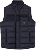 Moncler Athos Navy Quilted Shell Gilet