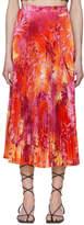 Versace Pink Jungle Print Pleated Skirt