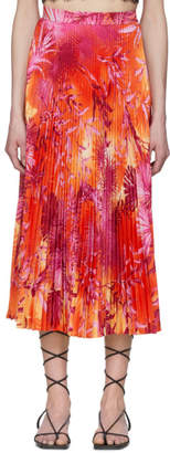 Versace Pink Jungle Print Pleated Skirt