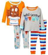 Candlesticks Wild Sleeper Monster Cotton Pajamas - Set of 2 (Toddler Boys)