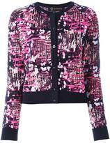 Versace bleached leopard print cardigan - women - Polyamide/Viscose/Wool - 42