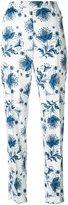 Alexander McQueen floral straight leg trousers