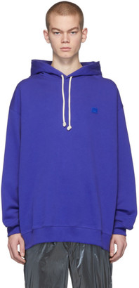 Acne Studios Blue Oversized Patch Hoodie