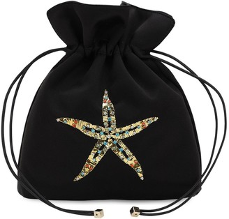 Les Petits Joueurs Trilly Satin & Crystal Sea Star Clutch