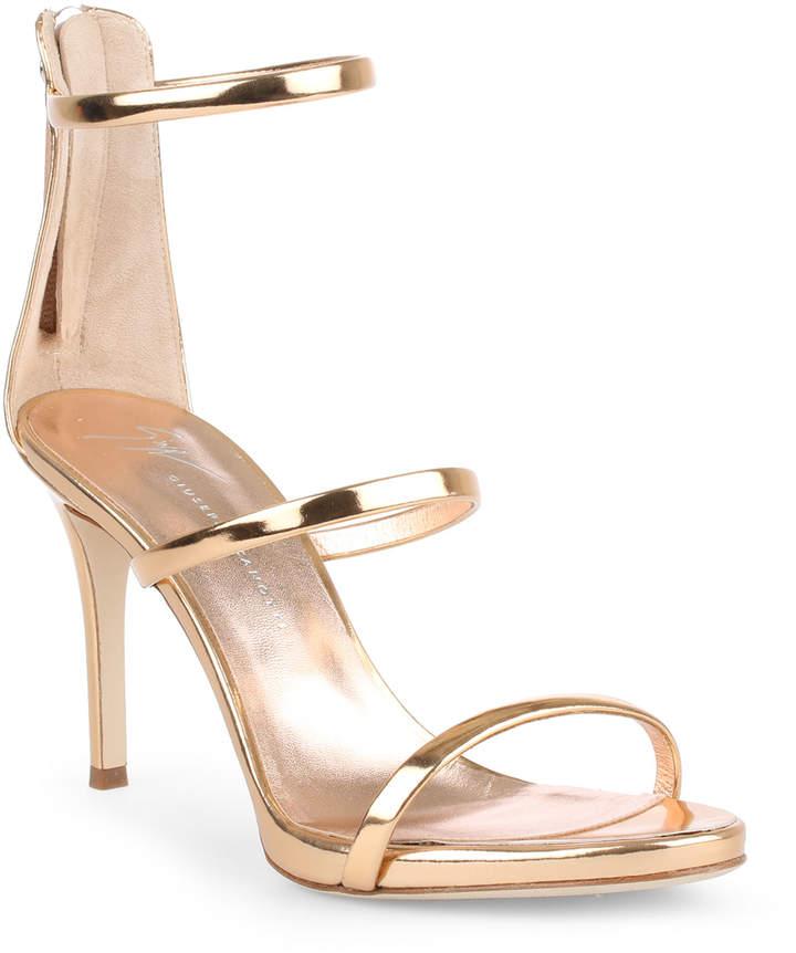 Giuseppe Zanotti Harmony 90 rose gold metallic sandals