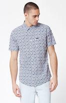 RVCA Porcelain Floral Short Sleeve Button Up Shirt