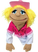 Melissa & Doug ; Cowgirl Puppet With Detachable Wooden Rod for Animated Gestures