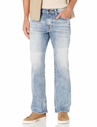 Silver Jeans Co. Men's Zac Relaxed Fit Straight Leg Jeans Pants