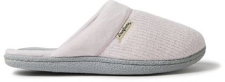 Dearfoams Women's Samantha Chenille Clog with Quilted Sock slippers