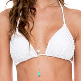 Luli Fama Brazilian Ruched Back Tieside In White (L50602P)