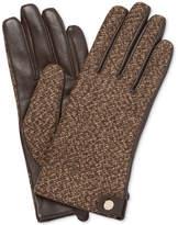 Calvin Klein Mixed Media Boucle & Leather Gloves