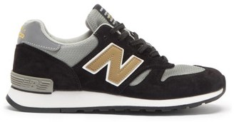 New Balance Made In Uk 670 Suede And Mesh Trainers - Black/grey