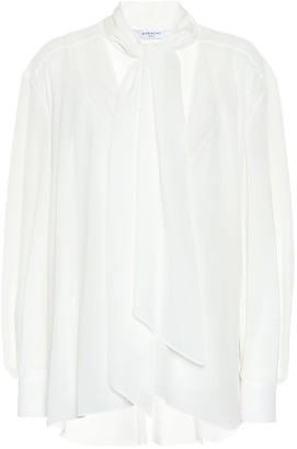 Givenchy Silk-georgette blouse