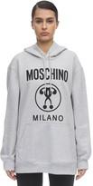 Moschino Logo Print Jersey Sweatshirt Hoodie